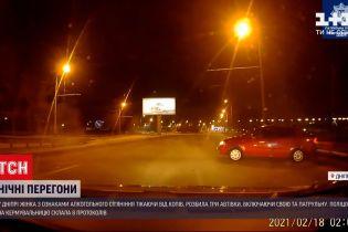 Новости Украины: в Днепре пьяная водительница разбила 3 авто