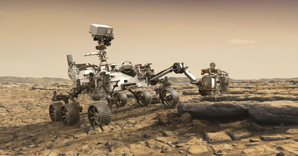 Марсоход Perseverance сел на Красную планету и сделал первые фото оттуда