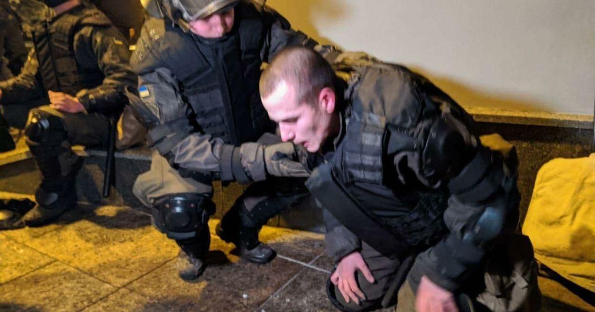 Акция протеста против ареста Стерненко: есть первые раненые