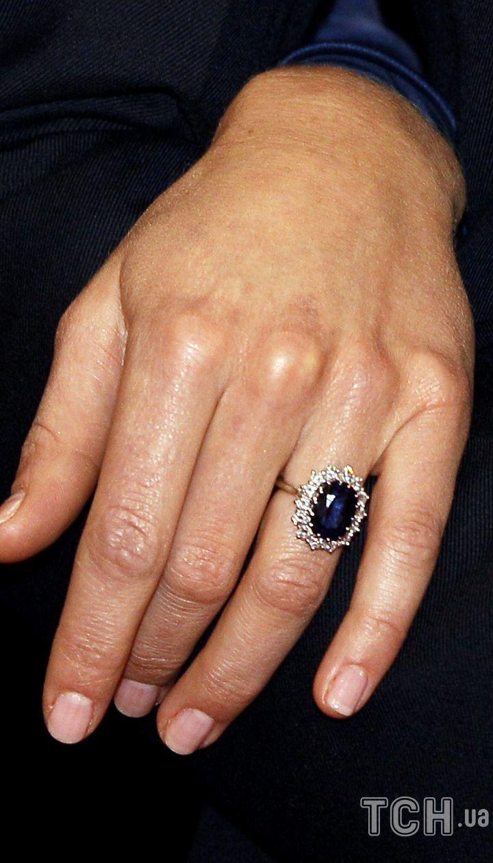 Кольцо Дианы на Кейт Миддлтон