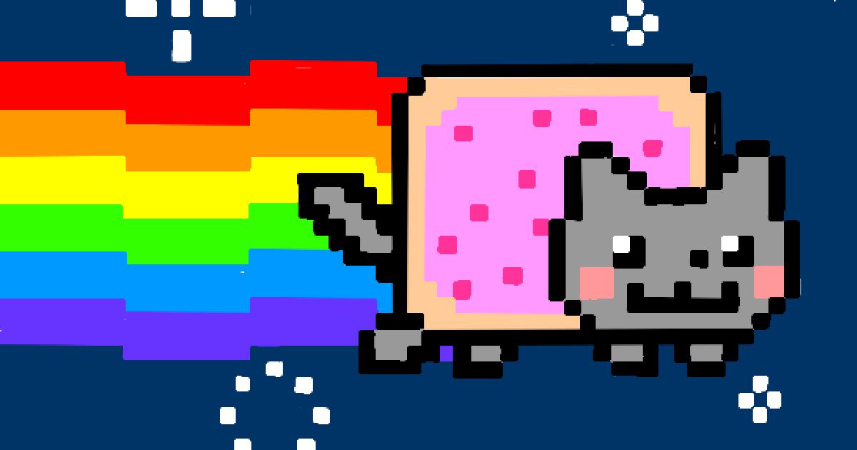 Гіфку з котом з гри Nyan Cat продали за 590 тисяч доларів на аукціоні криптомистецтва