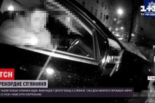 Новини України: у Львові поліція зупинила вщент п'яного водія