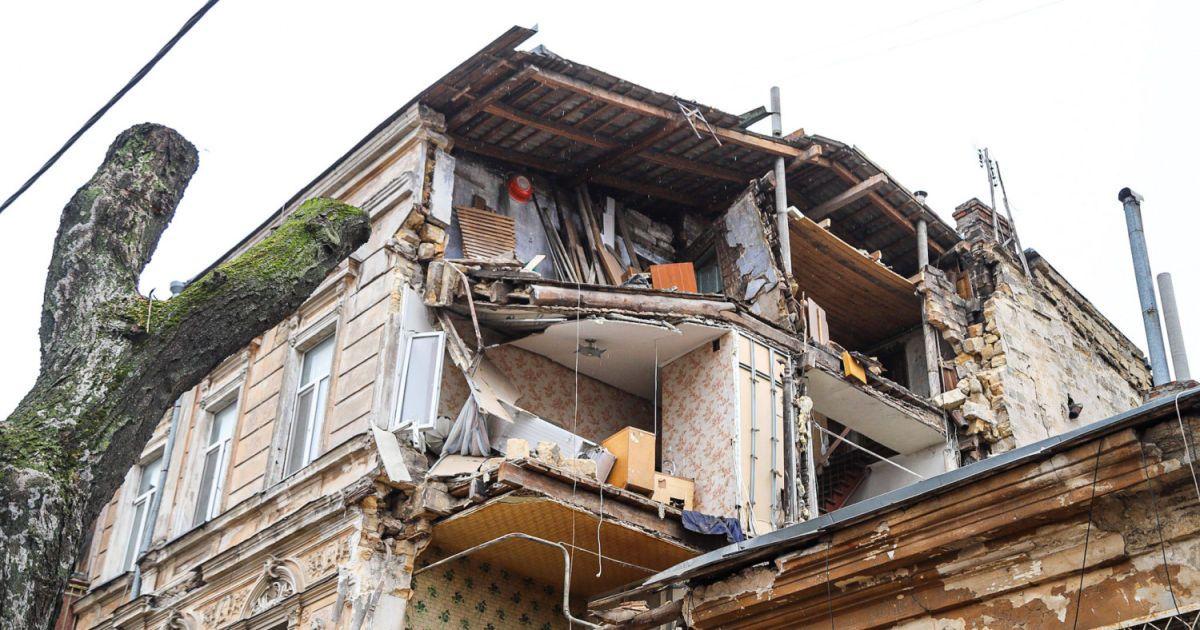 Обвал дома в Одессе мог произойти из-за разрушения несущей стены при ремонте жильцами