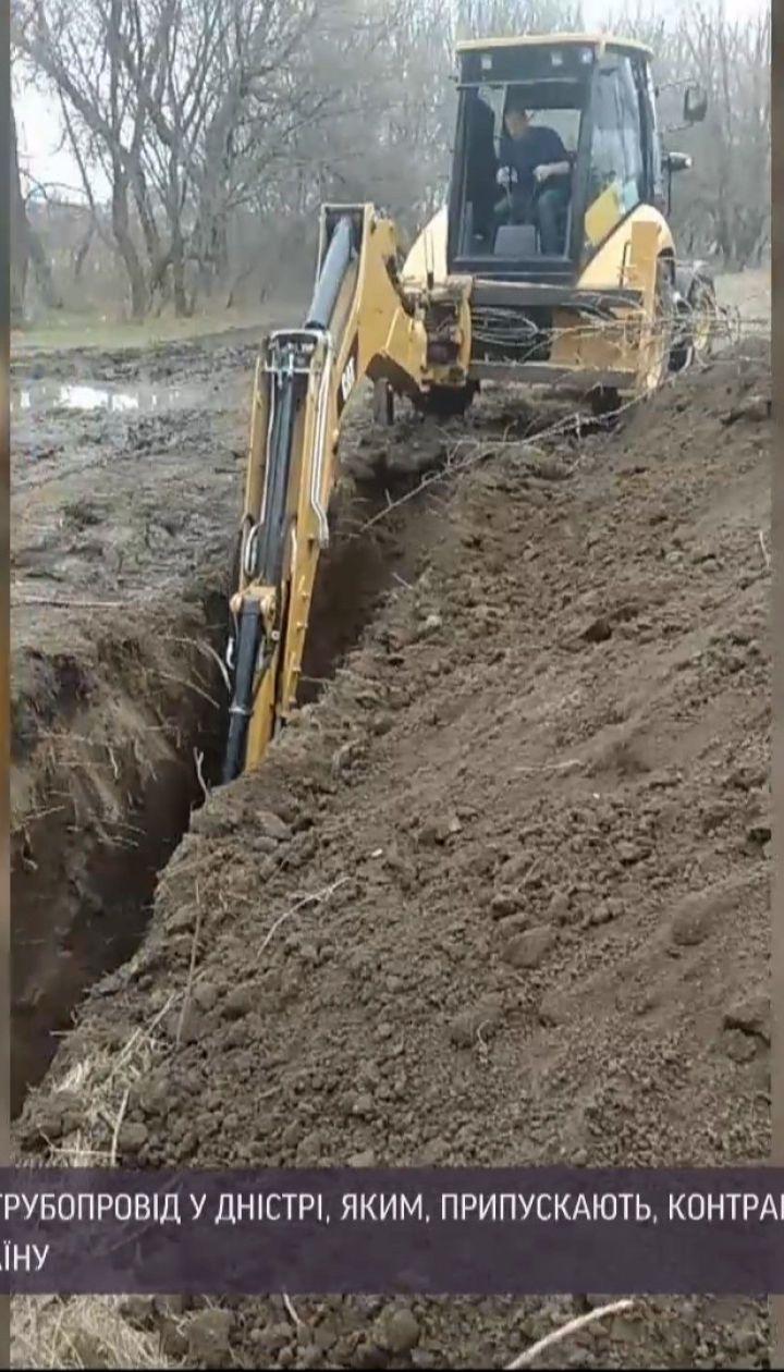 Новости Украины: в Винницкой области пограничники обнаружили трубопровод, проложенный через реку