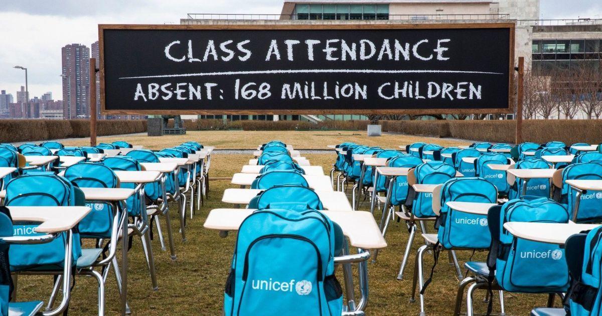 ЮНИСЕФ представил большую инсталляцию, посвященную неопределенному будущему 168 миллионов детей (фото)