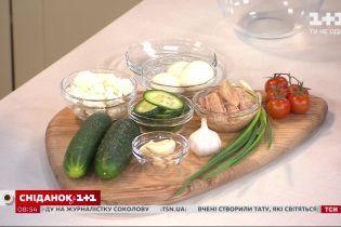 Рыбные мини-бутерброды с крем-сыром, яйцом и овощами