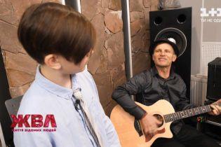 Мечтает заниматься музыкой, как отец: Олег Скрипка познакомил с младшим сыном Устимом