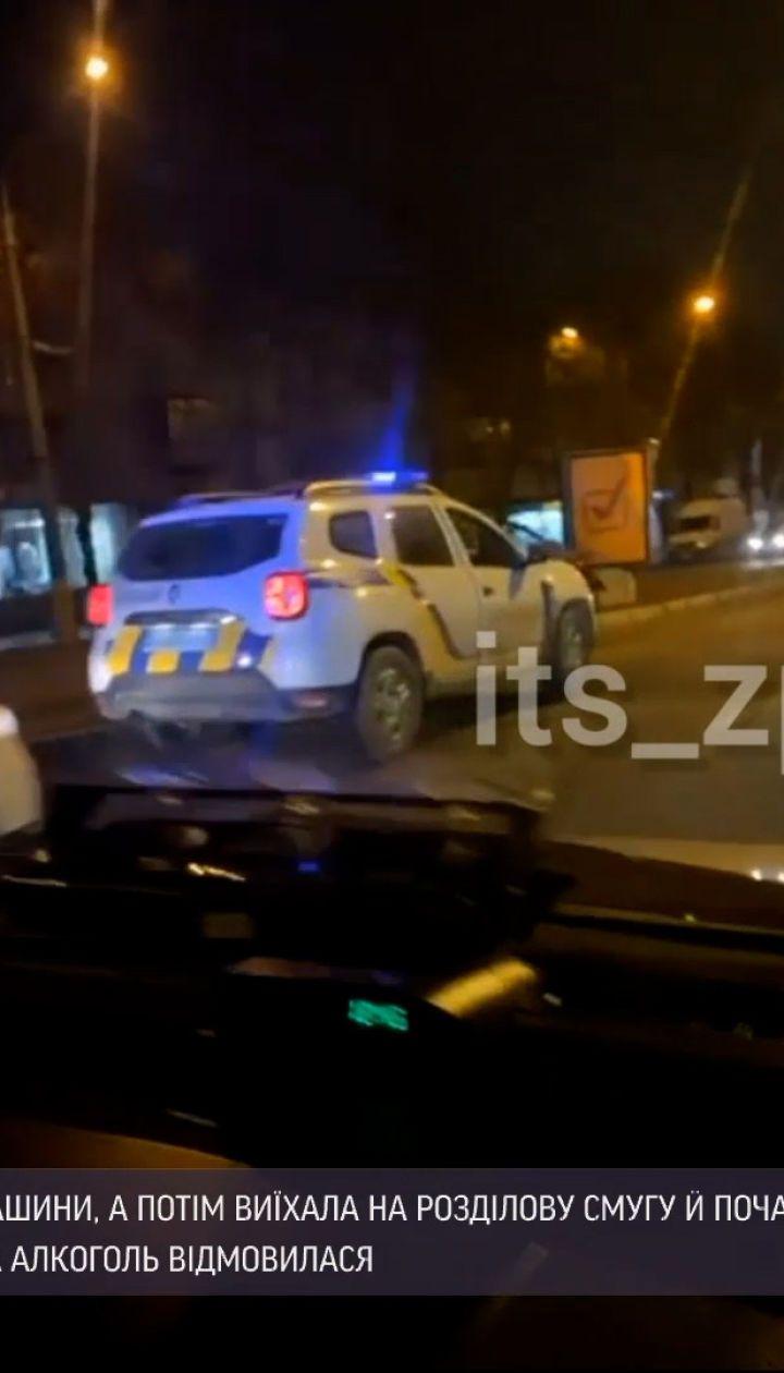 Новости Украины: в Запорожье нетрезвая водитель протаранила сразу два авто