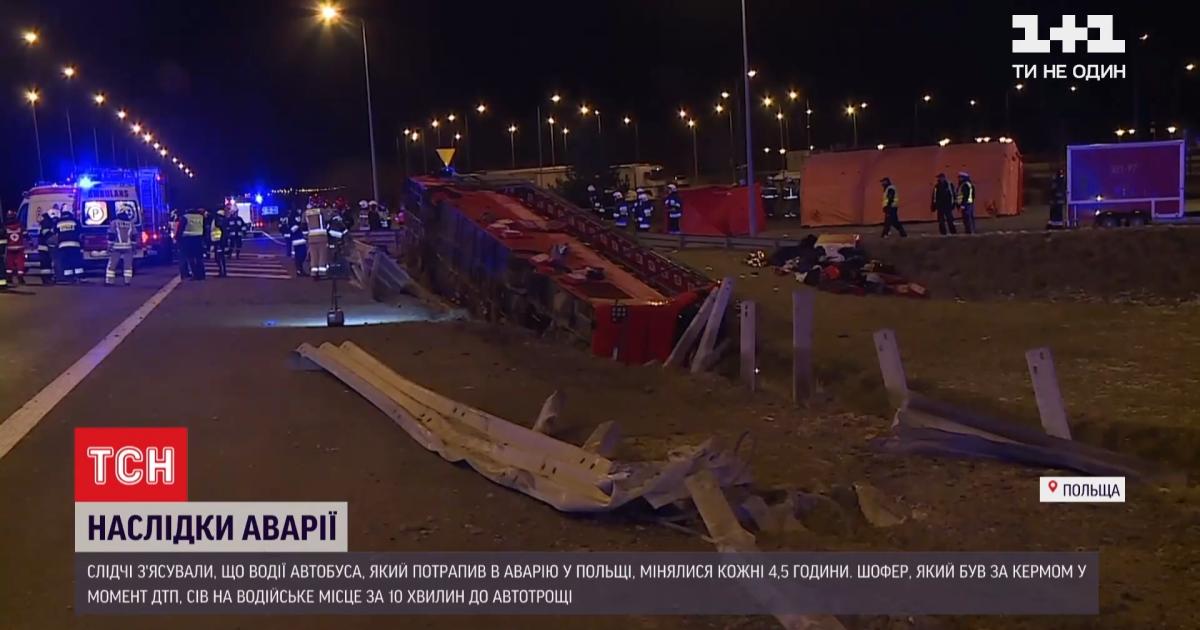 ДТП з автобусом у Польщі: п'ятеро травмованих – у критичному стані, водію загрожує 8 років ув'язнення