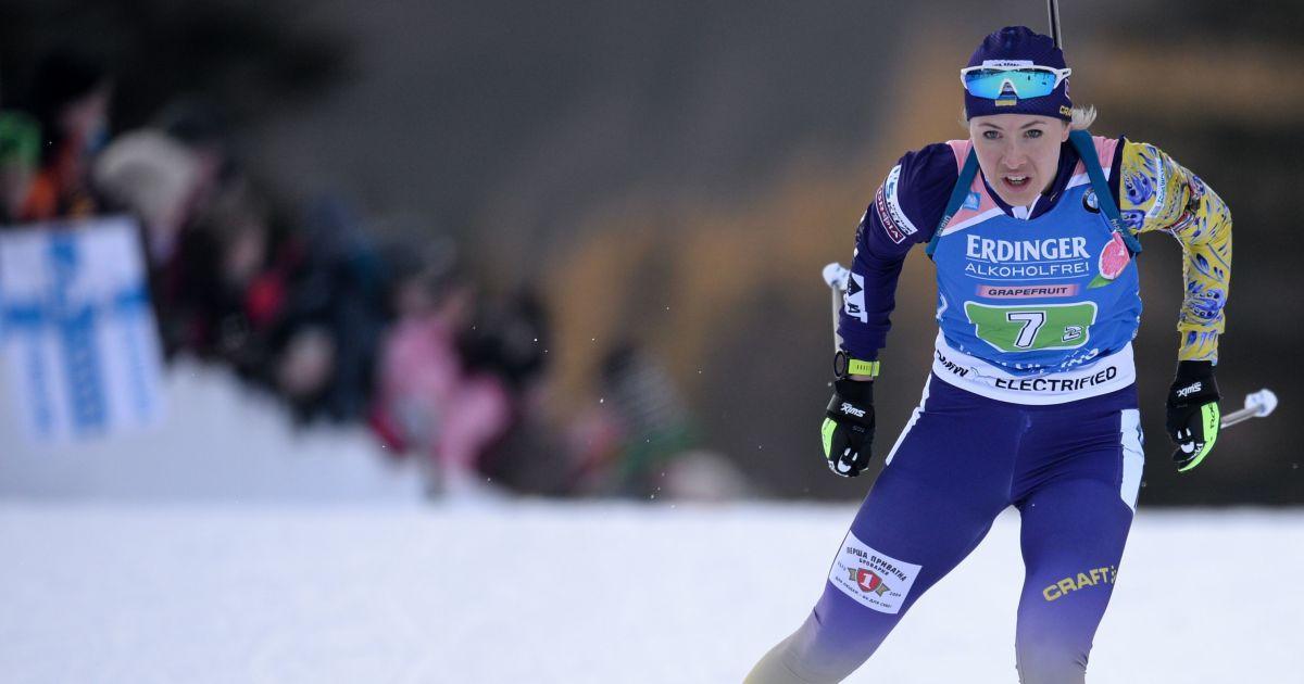 Украинка Джима не смогла отстоять пятую позицию в гонке преследования на Кубке мира по биатлону