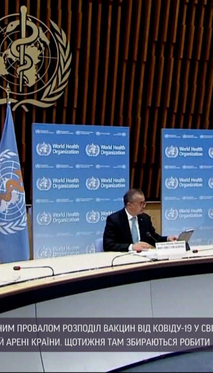 Новини світу: очільник ВООЗ розкритикував заможні країни через розподіл вакцин