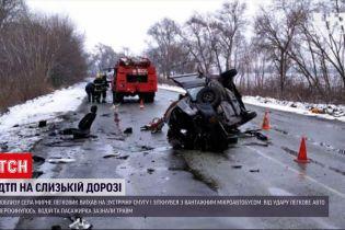 Новости Украины: в Днепропетровской области 2 авто от удара разлетелись по трассе