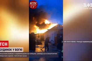 Новости Украины: спасатели пока не назвали причину масштабного пожара под Киевом