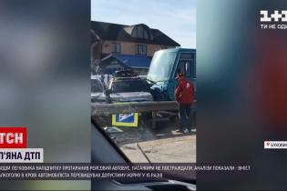 На Буковині п'яний водій врізався у рейсовий автобус: відео