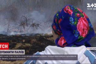 Новости Украины: в Ровенской области селяне подожгли сухостой - огонь едва не перекинулся на дома