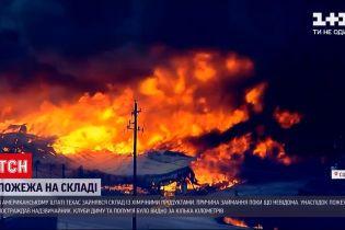 Новости мира: в американском Техасе произошел пожар на складе с токсичными химпродуктами