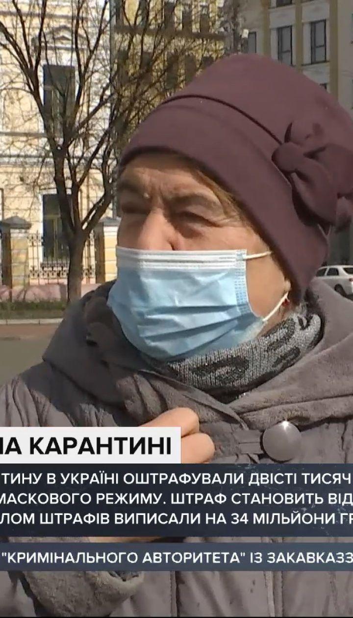 Які штрафи за недотримання маскового режиму та карантину в Україні