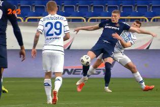 Динамо – Дніпро-1 - 1:0. Довбик отримав другу жовту картку за фол проти суперника