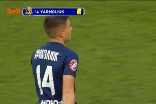 Динамо – Дніпро-1 - 2:0. Ярмолюк отримав першу жовту картку за фол проти суперника