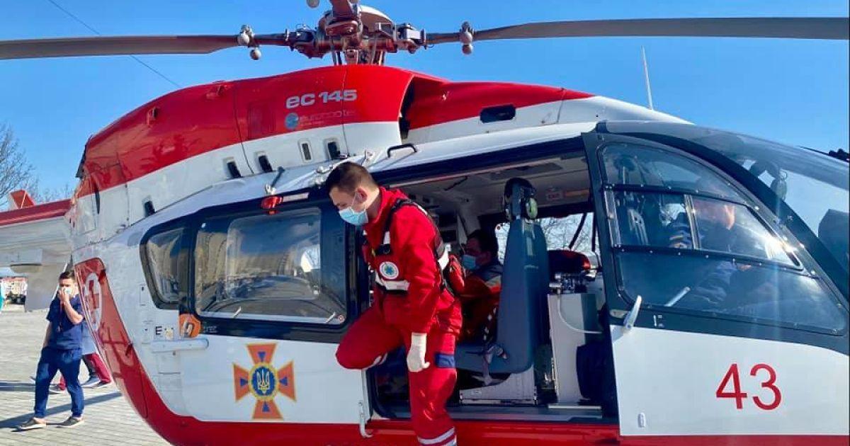 Повітряна швидка допомога: на Львівщині евакуаційний вертоліт урятував уже двох людей
