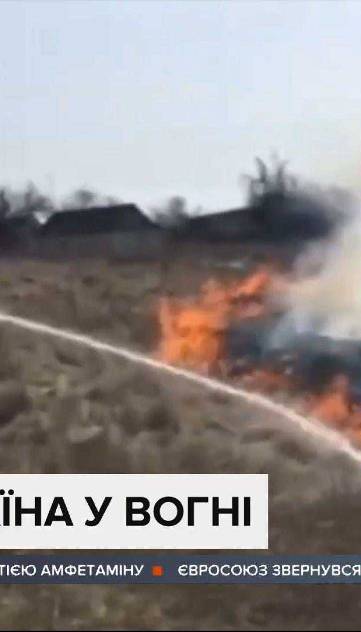 Україна у вогні: через спалювання сухостою у всій державі спалахують пожежі