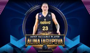 Українка Ягупова вдруге поспіль визнана найкращою баскетболісткою Євроліги