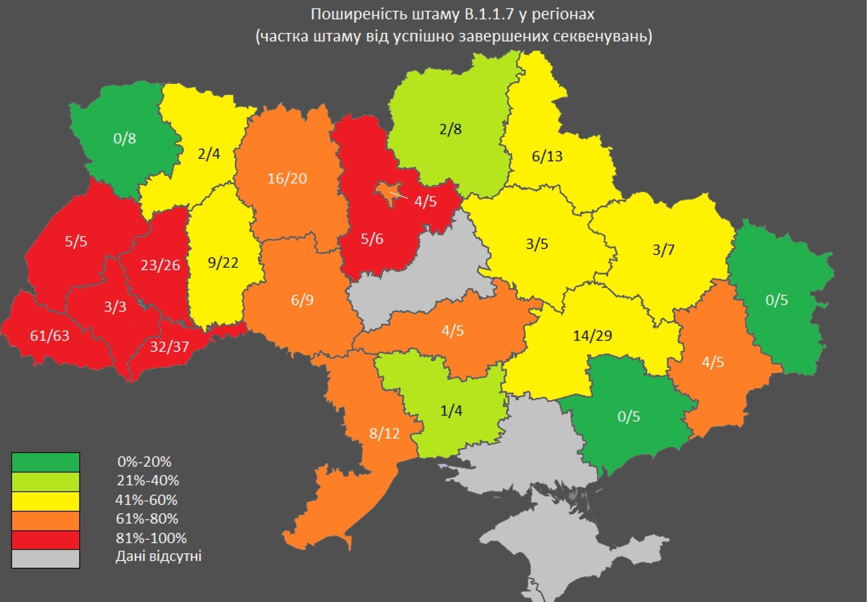 Британський штам в Україні