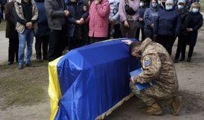 На Харківщині попрощалися із загиблим на Донбасі бійцем ЗСУ Андрієм Тепериком: фото
