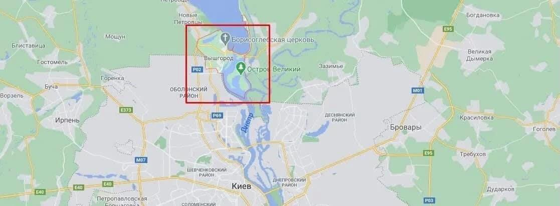 Карта пошуків дворічного Богдана Уніченко