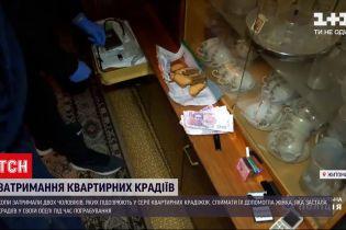 Новини України: у Житомирі поліція затримала квартирних крадіїв