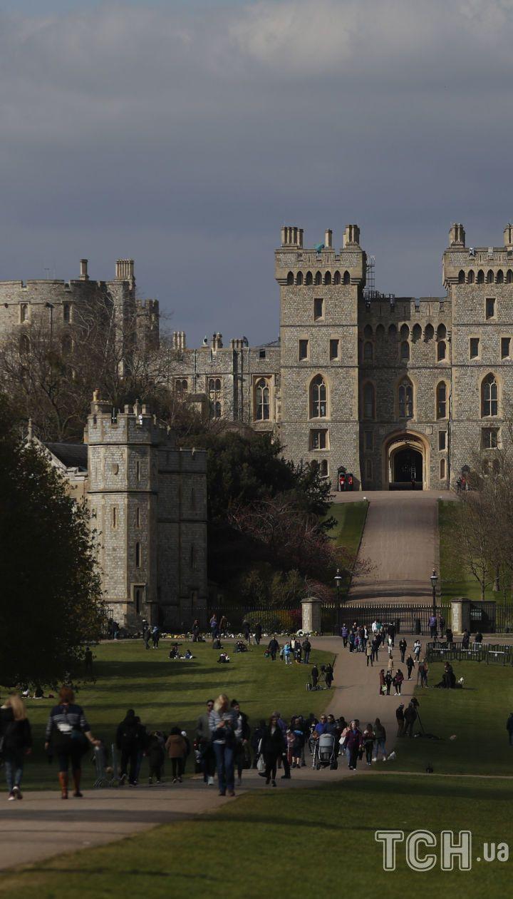 Виндзорский замок в день прощания с принцем Филиппом