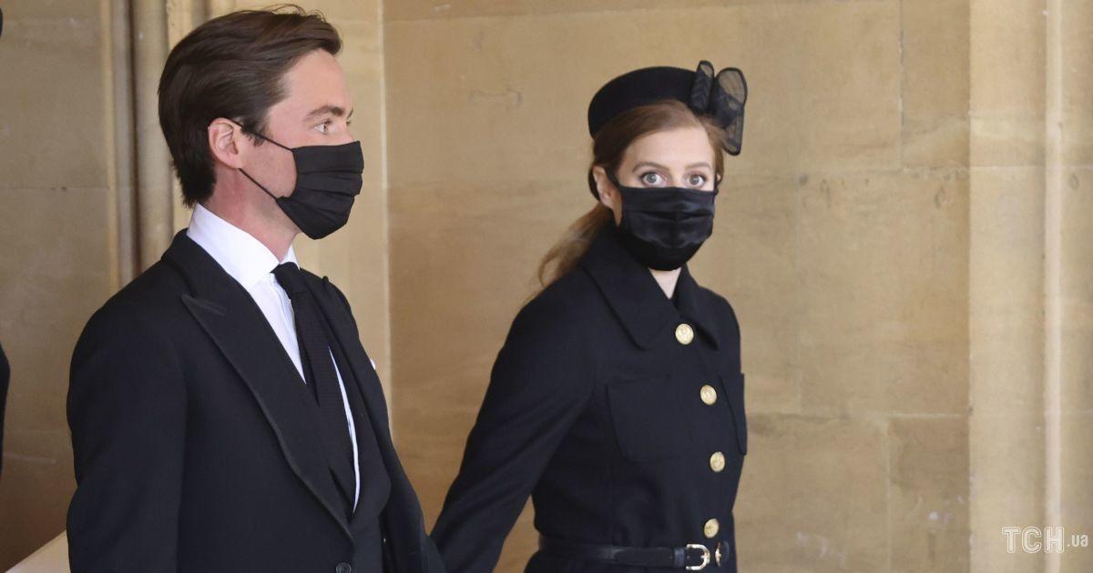Заметно похудела: принцесса Беатрис с супругом Эдоардо присутствовала на прощании с принцем Филиппом