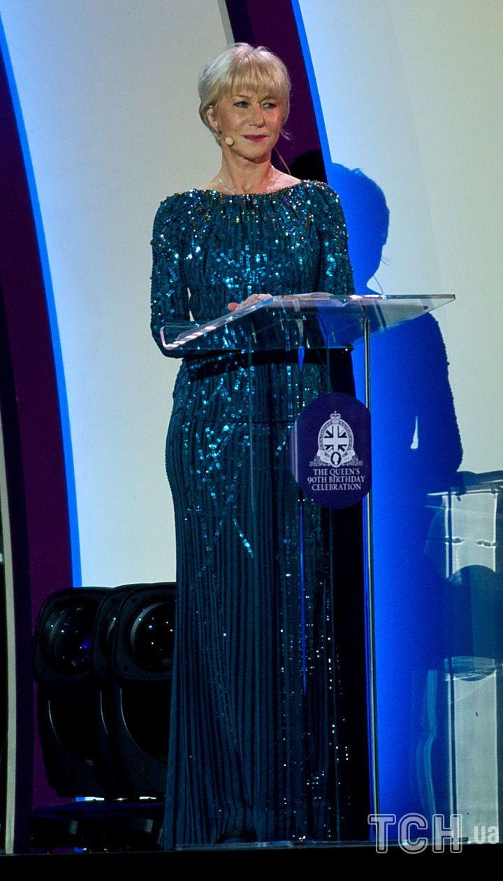 Хелен Миррен на 90-летнем юбилее королевы