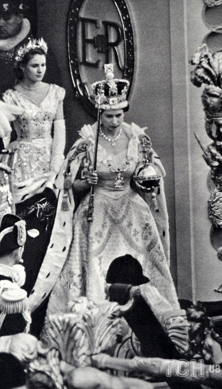 Королева Елизавета II в день своей коронации, 1953 год