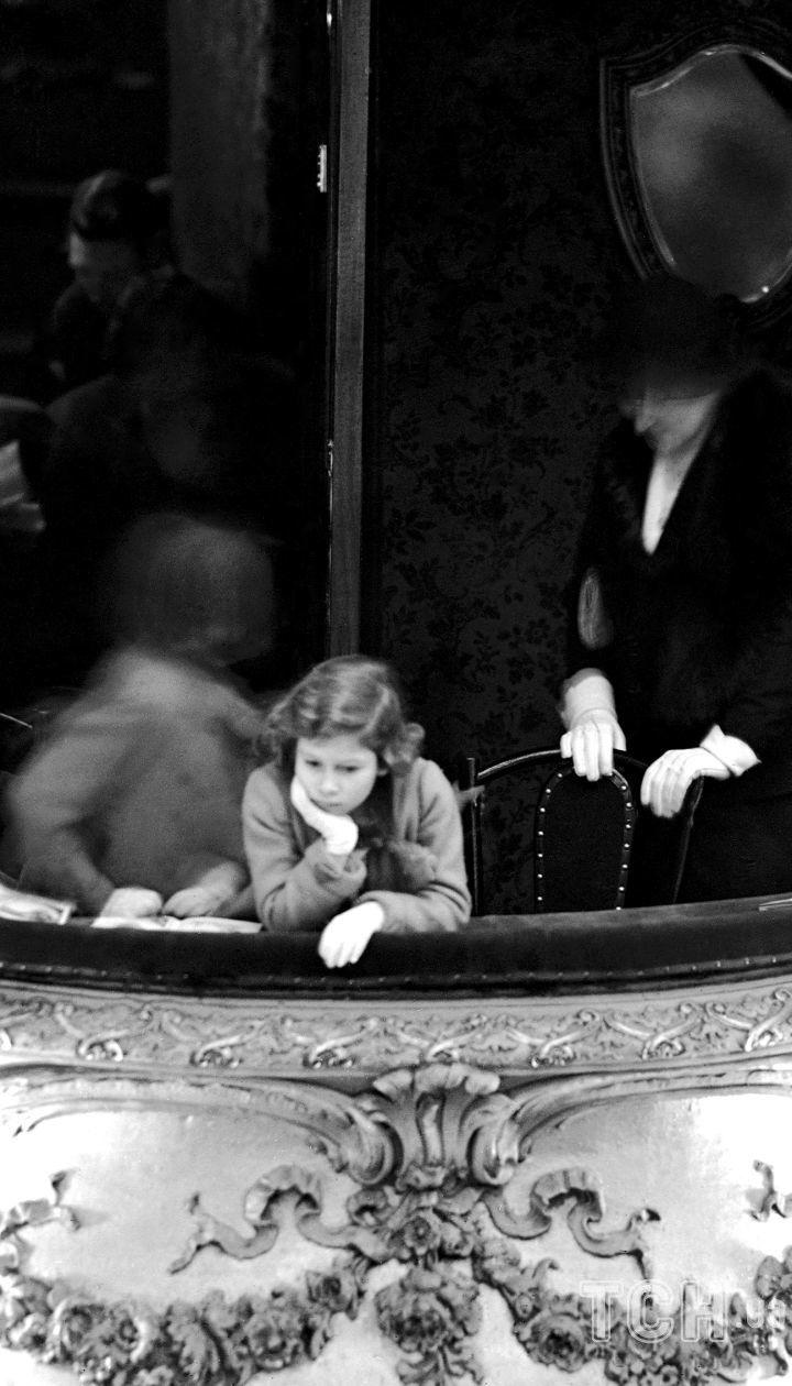 Принцесса Елизавета в ложе герцогини на пантомиме