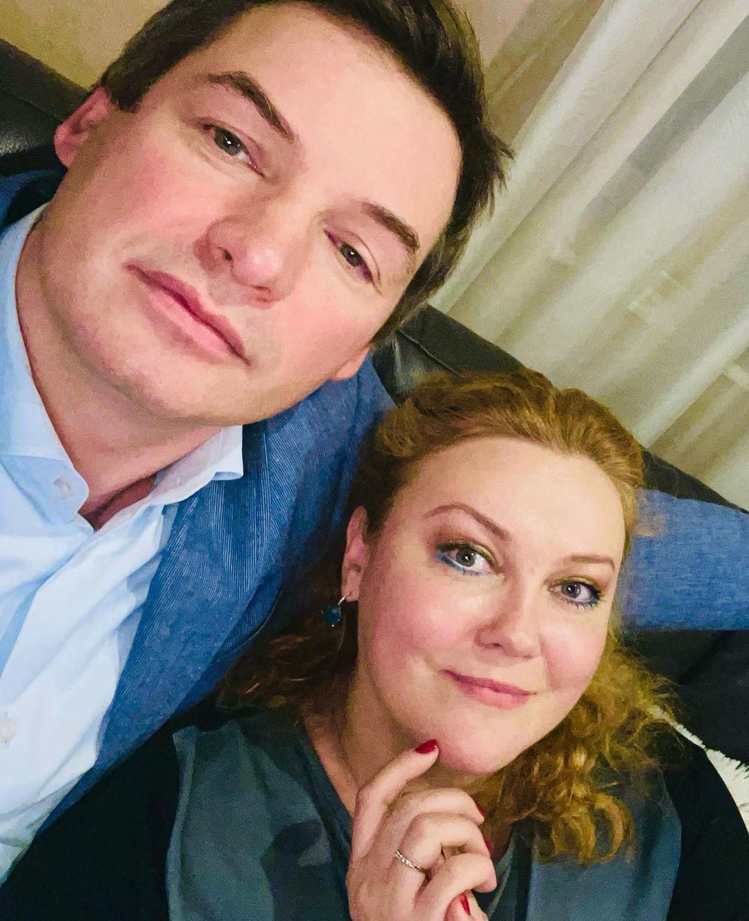 Леся Самаєва з чоловіком