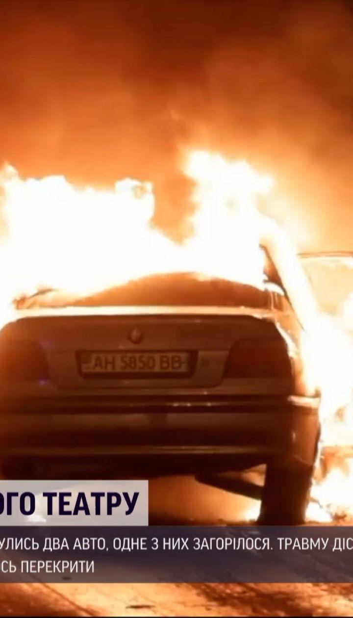 Новости Украины: в Днепре во время ДТП одна легковушка сгорела дотла