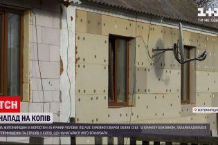 Новини України: у Коростені чоловік після сімейної сварки облив оселю бензином і хотів підпалити