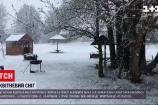 Погода в Украине: из-за арктического циклона в центральной Украине выпал снег