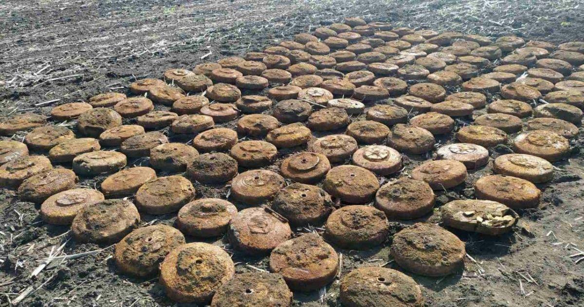 У Дніпропетровській області знайшли 150 мін (фото)