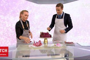 Новости Украины: шеф-кондитер приготовила в студии ТСН вкусный торт