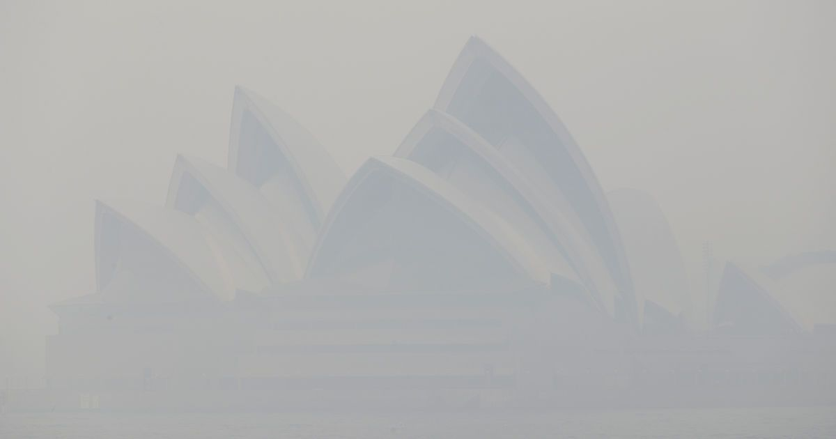 Возле Сиднея специально подожгли сухую траву и кустарники — густой дым полностью окутал город
