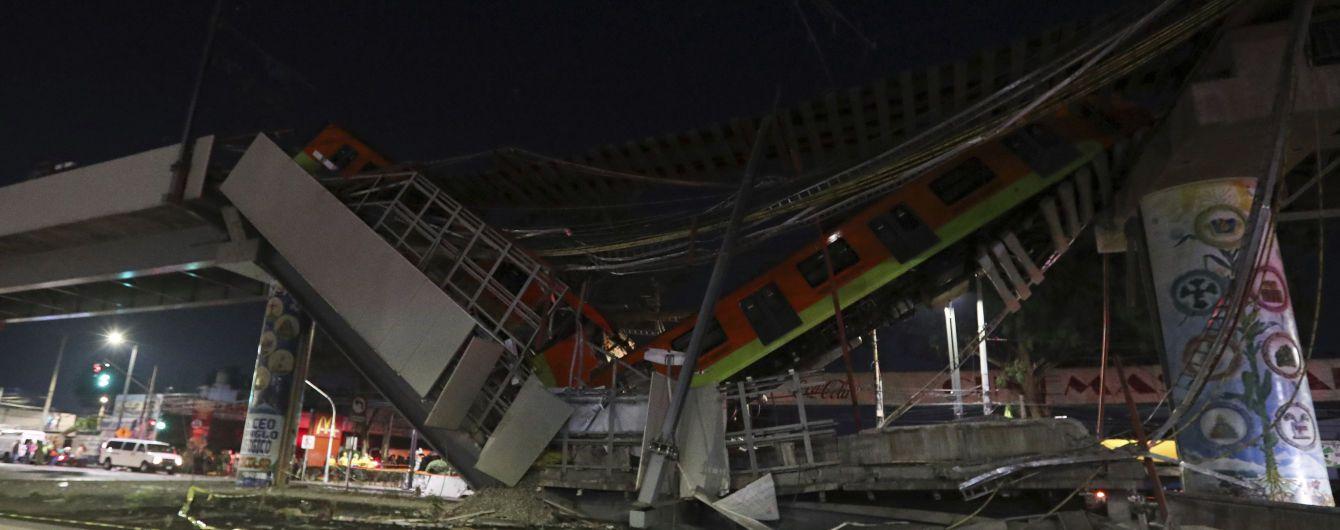 В Мексике провалился мост с поездом метро: есть погибшие