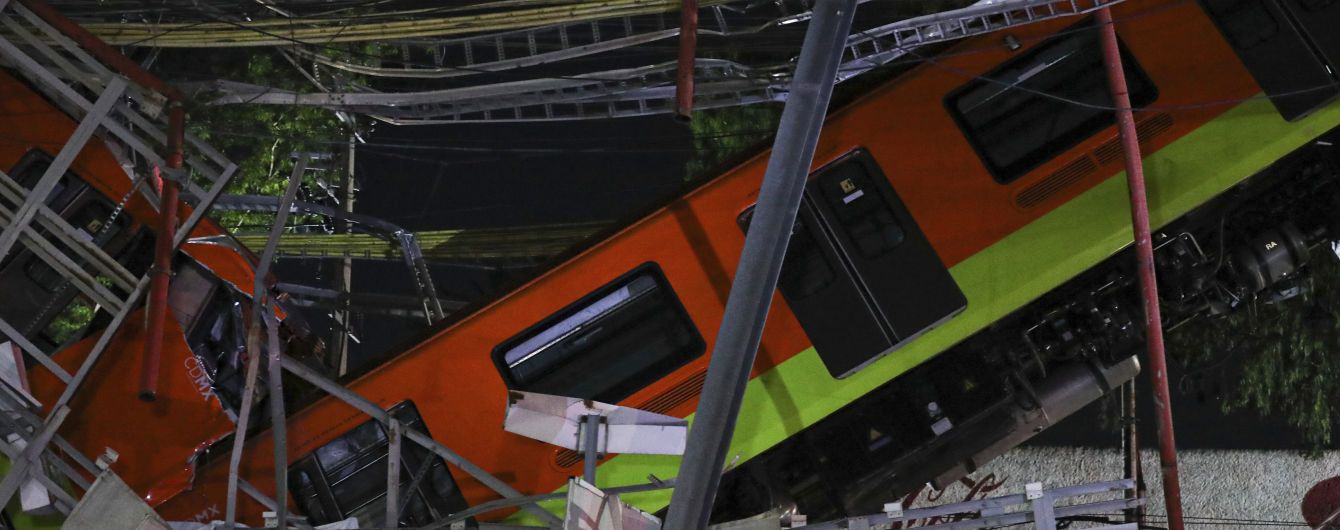 Обвал моста метро в Мексике: число жертв резко возросло