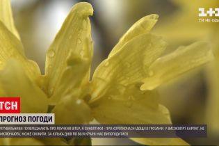 Погода в Украине: почти во всех регионах следует ожидать порывистый ветер и дожди с грозами