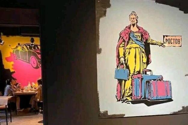 """""""Понаїхали, чемодан и Ростов"""": в Одесі популярний ресторан потрапив у скандал через картини на стінах"""
