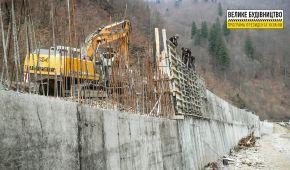 """""""Велике будівництво"""" Зеленського: на Закарпатті завершується спорудження найбільшої підпірної стінки України"""