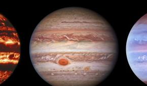 Телескоп Hubble сделал яркие снимки Юпитера