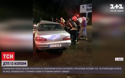 В Одессе полицейский проскочил на запрещающий сигнал светофора – в ДТП погиб другой водитель