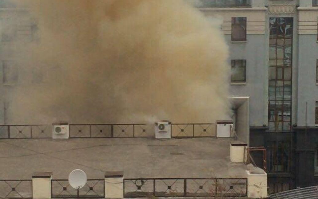 Пожар произошел на первом этаже заведения / © kiev.vgorode.ua